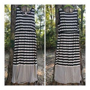 Black & White striped column Maxi dress 🌟PLuS🌟